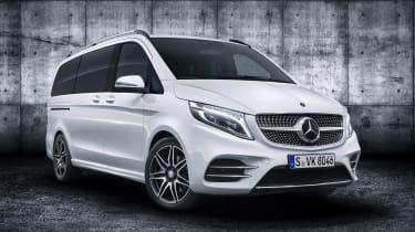 Mercedes V-Class facelift - studio front white