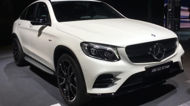 Mercedes-AMG GLC 43 Coupe - Paris front quarter