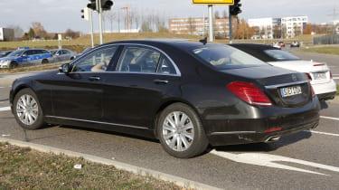 Mercedes S-Class facelift side rear