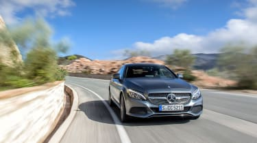 Mercedes C300 Coupe - front panning