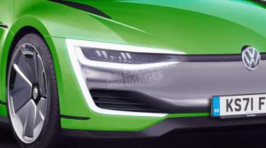 Volkswagen Scirocco EV - front detail (watermarked)