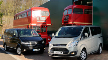 Ford Tourneo vs Volkswagen Caravelle