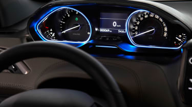 Peugeot 2008 dashboard dials