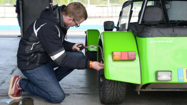 Long-term test review: Caterham 270S - fourth report Sean wheel
