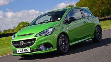 Vauxhall Corsa VXR - front tracking