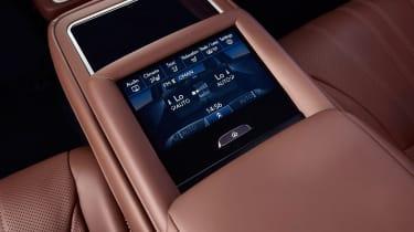 Lexus LS 500h - rear seat controls