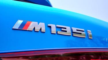 BMW M135i 2019 badge