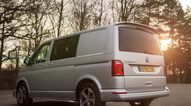 Long-term test review: Volkswagen Transporter Sportline - rear sunset