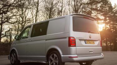 Long-term test review: Volkswagen Transporter Sportline - rear sunset