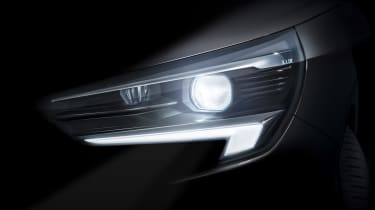 Vauxhall Corsa headlight teaser