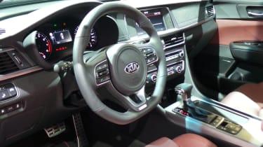 New Kia Optima GT cabin