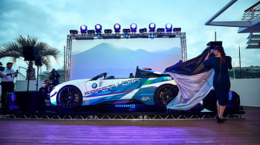 BMW i8 Roadster Formula E safety car - side