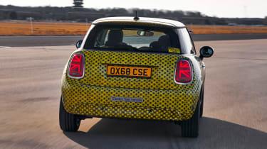 MINI Cooper SE prototype - full rear