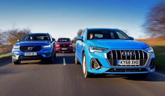 Audi Q3 vs Volvo XC40 vs Mazda CX-5 - header