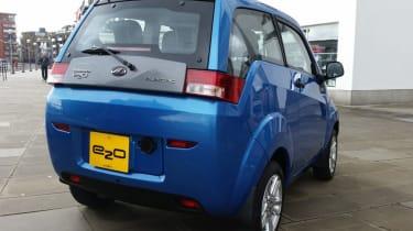 Mahindra e2o - blue rear