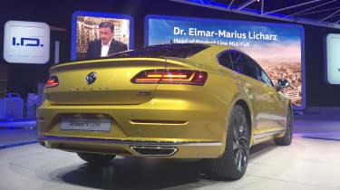 Volkswagen Arteon official - R-Line Geneva rear quarter