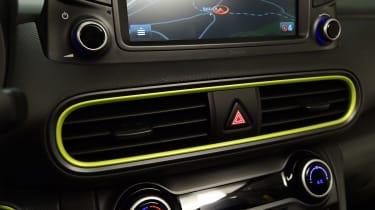 Hyundai Kona studio - centre console