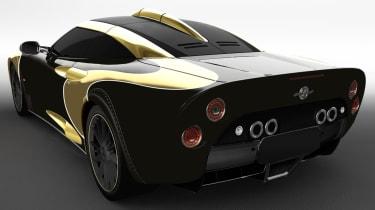 Spyker C8 Aileron - gold rear