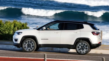 2017 Jeep Compass - side profile in motion