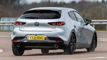 Mazda 3 e-SkyActiv X - rear cornering