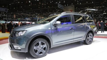 Dacia Logan MCV Stepway Geneva - side grey