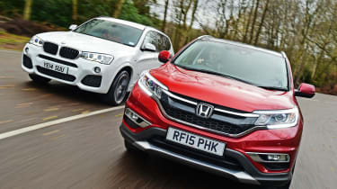 Used BMW X3 vs New Honda CR-V - front