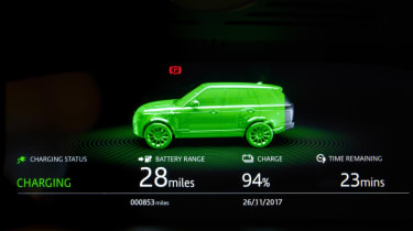 New Range Rover PHEV 2017 review - charging animation