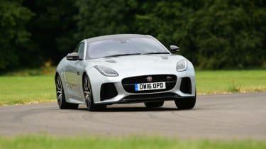 Jaguar F-Type SVR vs Porsche 911 Turbo - front cornering