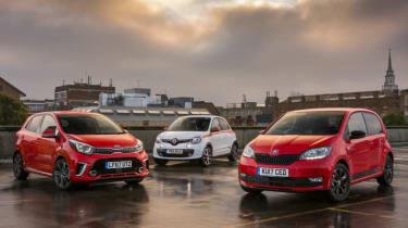 Skoda Citigo vs Kia Picanto vs Renault Twingo - header