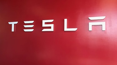 Tesla Factory Tour - sign