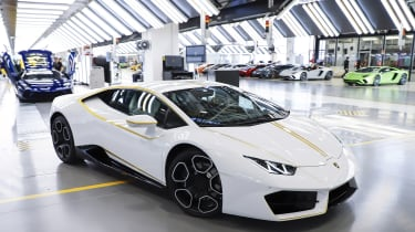 Pope Francis Lamborghini Huracan front quarter