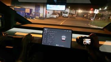 Tesla Cybertruck - reveal dash