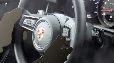 Porsche 911 spy steering wheel