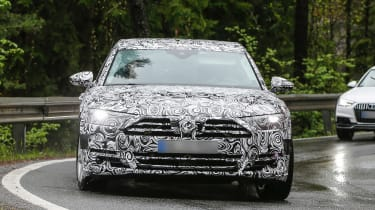 New Audi A8 spies front