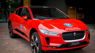 Andy Murray Jaguar I-Pace - front 3/4