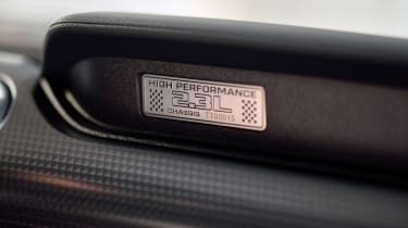 Ford Mustang High Performance Package - interior badge