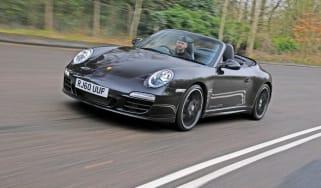 Porsche 911 GTS Cabriolet front track