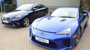 Lexus IS long-termer and LFA