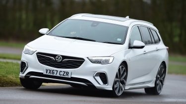 Vauxhall Insignia Sports Tourer GSi - front cornering