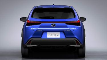 Lexus UX 300e - full rear studio