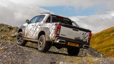 Isuzu D-Max XTR - rear 3/4 static off-road