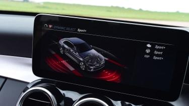 Mercedes C-Class infotainment screen
