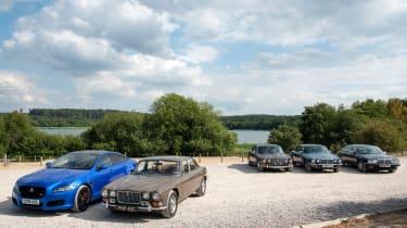 Jaguar XJ years: XJ6, XJ12, XJ40 and XJR 575 driven group