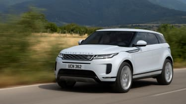 New Range Rover Evoque - front white tracking
