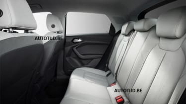 Audi A1 - leak grey rear seats