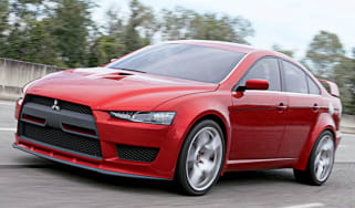 Front view of Mitsubishi Lancer Evo X