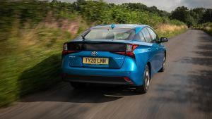 Toyota Prius driving - rear