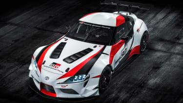 Toyota Supra GR concept top down