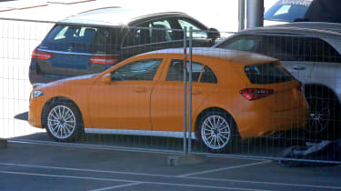 Mercedes A-Class spy shot rear quarter