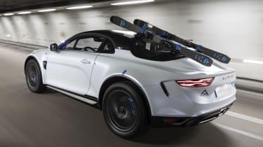 Alpine A110 SportsX - rear tracking